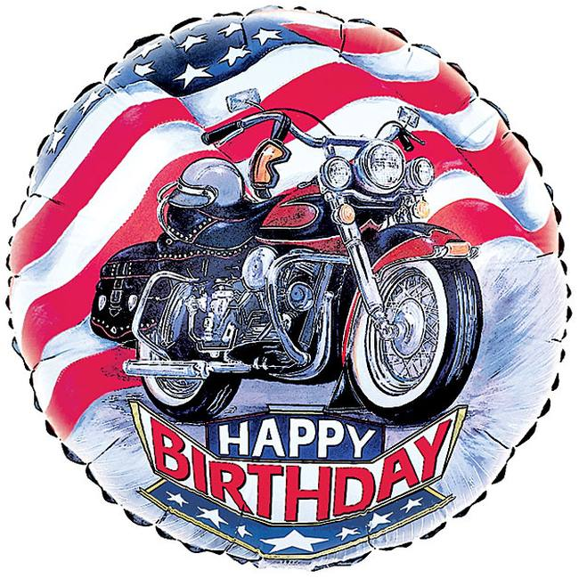 Motorcycle Happy Birthday Foil Balloon Party At Lewis Elegant Supplies Plastic Dinnerware Paper Plates And Napkins