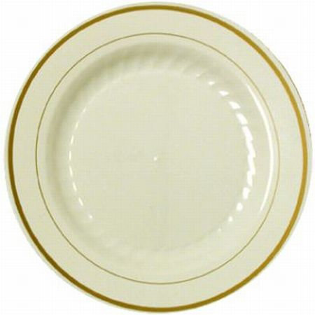 Masterpiece Ivory Gold Trim Premium 9-inch Plastic Plates  sc 1 st  Party at Lewis & Masterpiece Ivory Gold Trim Premium 9-inch Plastic Plates ...