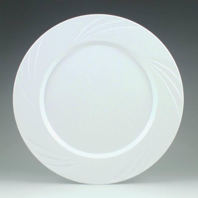 White Newbury 10 34 Inch Heavy Duty Elegant Plastic Plates Party
