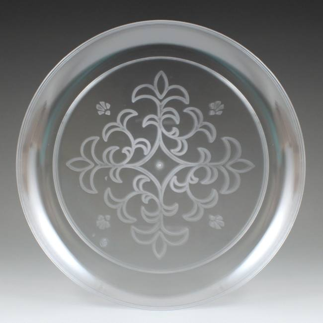 Sovereign Floral Etched 9-inch Clear Plastic Plates & Sovereign Floral Etched 9-inch Clear Plastic Plates: Plastic ...
