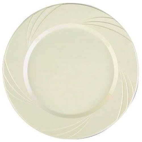 Beige Newbury 10-3/4-inch Heavy Duty Elegant Plastic Plates: Party ...