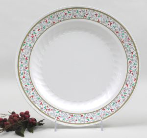 masterpiece holiday 7 12 inch plates - Christmas Plastic Plates