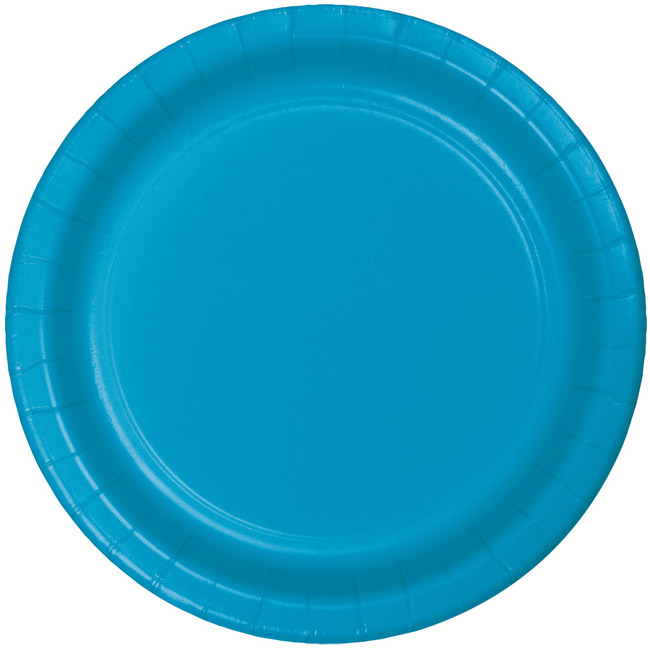 Turquoise Heavy Duty 7-inch Paper Plates  sc 1 st  Party at Lewis & Turquoise Heavy Duty 7-inch Paper Plates: Party at Lewis Elegant ...
