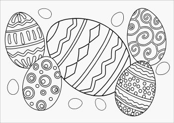 Easter Bunny Coloring Placemats: Printed Paper Placemats