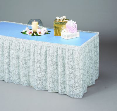 Clear Lace Plastic Table Skirting