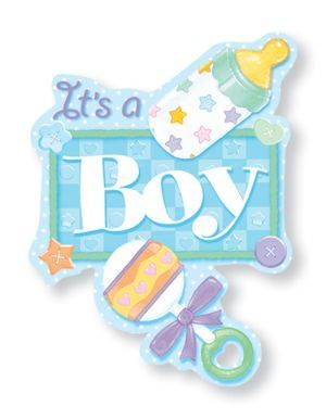 It 39 s a boy cutout decorations card boxes confetti and more for Baby shower decoration cutouts