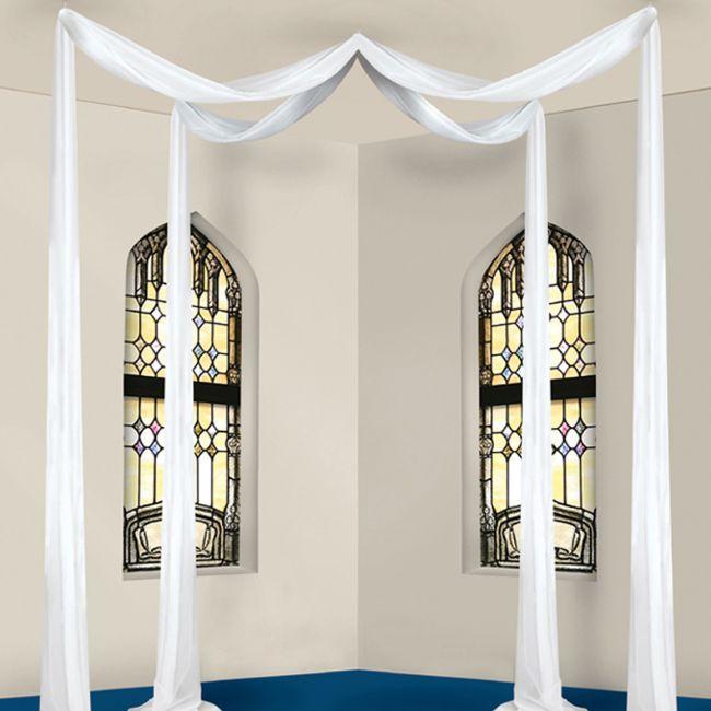Elite Sheer Fabric Wedding Canopy