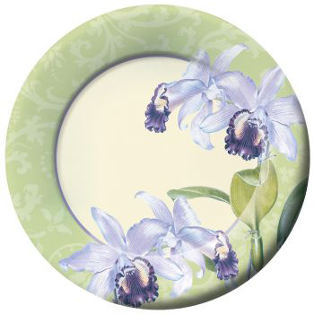 Orchid Botanical 11-inch Paper Plates  sc 1 st  Party at Lewis & Orchid Botanical 11-inch Paper Plates: Party at Lewis Elegant Party ...