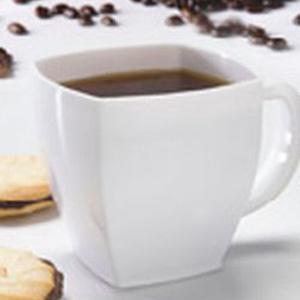 Square White 8 Oz Plastic Coffee Cups