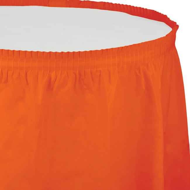 Sunkissed Orange Plastic 14-foot Table Skirting & Sunkissed Orange Plastic 14-foot Table Skirting: Party at Lewis ...