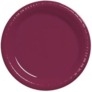 Burgundy Premium 10-inch Plastic Plates  sc 1 st  Party at Lewis & Square Plastic Plates Black Square Plastic Plates Clear Square ...