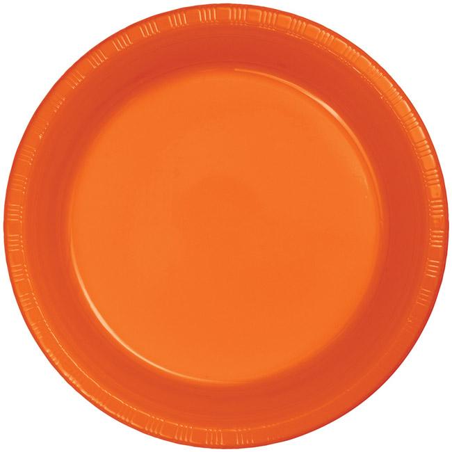 Sunkissed Orange Premium 10-inch Plastic Plates  sc 1 st  Party at Lewis & Sunkissed Orange Premium 10-inch Plastic Plates: Party at Lewis ...