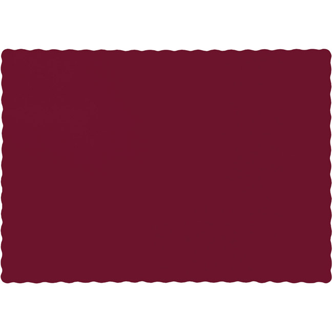 Burgundy Paper Placemats  sc 1 st  Party at Lewis & Burgundy Paper Placemats: Party at Lewis Elegant Party Supplies ...