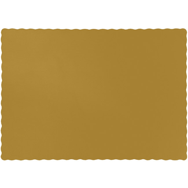 gold paper placemats