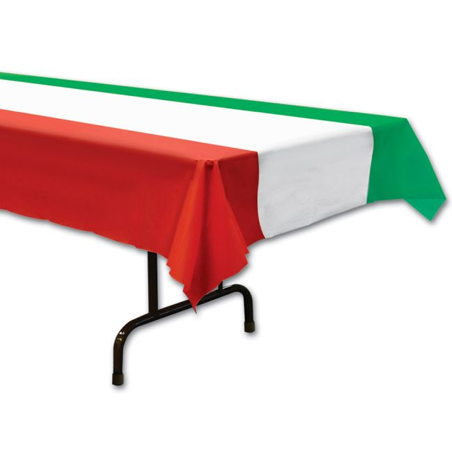 Red White And Green Plastic Tablecloth Party At Lewis Elegant