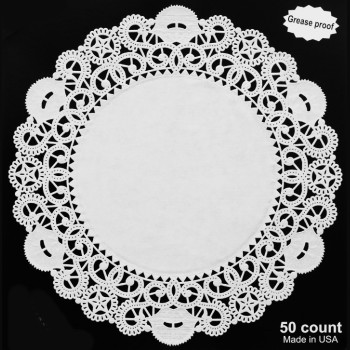 Paper Lace 12 Inch Doilies White