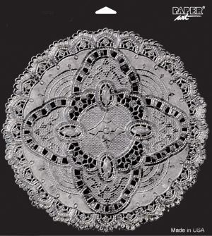 Paper Lace 12 Inch Doilies Silver