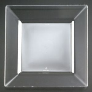 Squares 6-1/2-inch Plastic Plates Clear & Clear Plastic Plates Clear Plastic Dinnerware - Party at Lewis