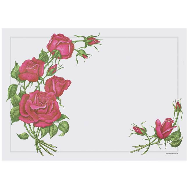 roses placemats  printed paper placemats