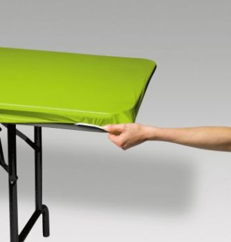 Stay Put Elastic Tablecloth, 6u0027 Banquet Fresh Lime