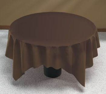 Linen Like Brown Round Table Cover Better Than Linen And