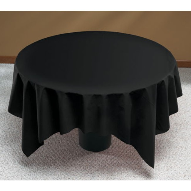 Party at Lewis & Linen Like Black Round Table Cover