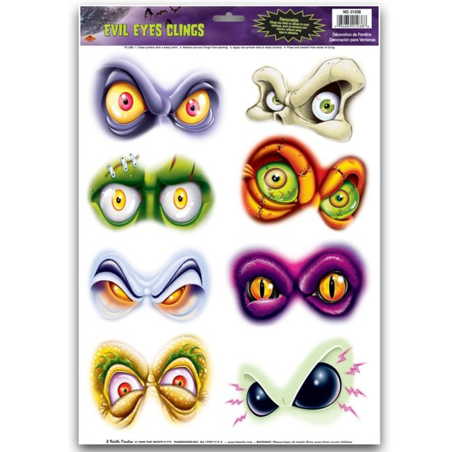 evil eyes window clings - Window Clings Halloween