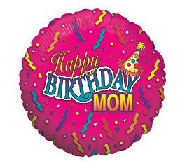 Happy Birthday Mom Foil Balloon Party At Lewis Elegant Supplies Plastic Dinnerware Paper Plates And Napkins