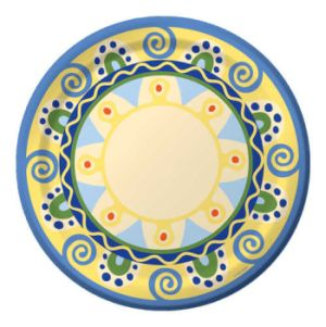 Mediterranean Pottery 9-inch Plates  sc 1 st  Party at Lewis & Mediterranean Pottery - Party at Lewis Elegant Party Supplies ...