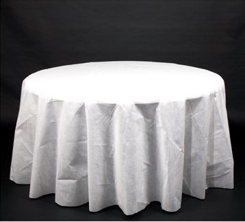 Linen like 120 round table cover white better than for 120 round white table linens
