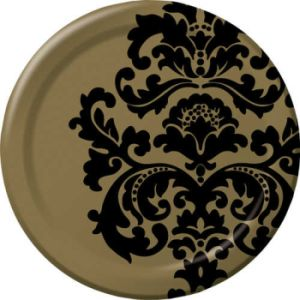 Finley Damask 10-1/4-inch Plates  sc 1 st  Party at Lewis & Finley Damask - Party at Lewis Elegant Party Supplies Plastic ...