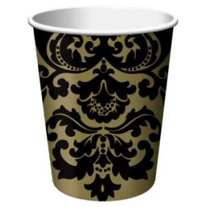 Finley Damask 9 oz Hot/Cold Cups  sc 1 st  Party at Lewis & Finley Damask - Party at Lewis Elegant Party Supplies Plastic ...
