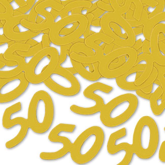 50th Anniversary Silhouettes Confetti Anniversary
