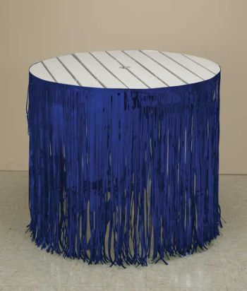 Blue Fringe Table Skirting 12 X 29