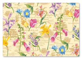 Springtime Flowers Placemats Party At Lewis Elegant Party