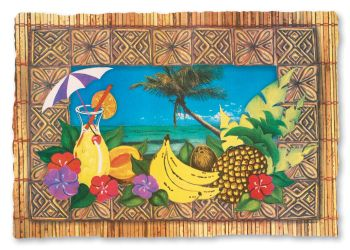 Tropical Paradise Placemats Party At Lewis Elegant Party Supplies Plastic Dinnerware Paper