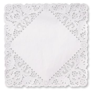 Square Lace Paper 12-inch Doilies White  sc 1 st  Party at Lewis & Square Lace Paper 12-inch Doilies White: Party at Lewis Elegant ...