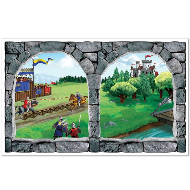 Castle window insta theme wall mural medieval for Castle window mural