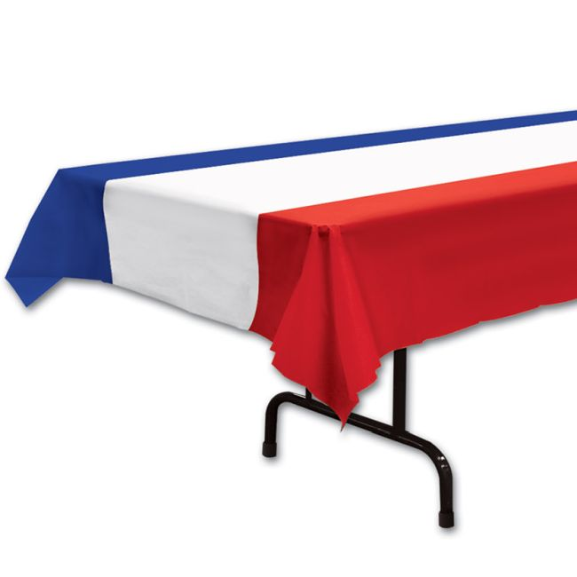 Red White Amp Blue Plastic Tablecover Tablecloths Skirts