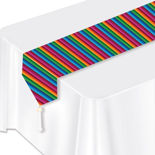Fiesta Serape Print Laminated Paper Table Runner Fiesta