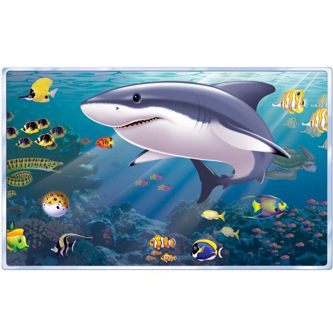 Christmas Lights Shark Tank: Aquarium Shark Tank Insta-View Wall Mural: Ocean Party