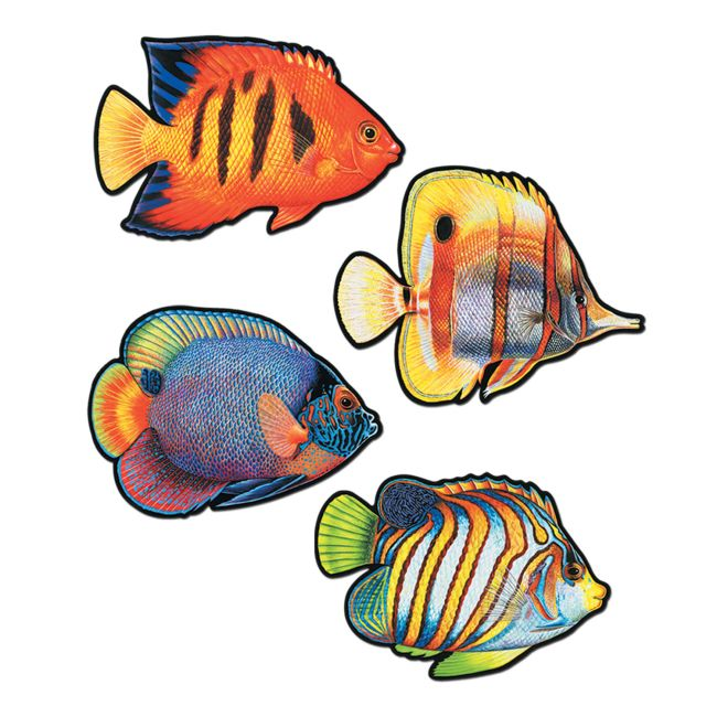 Coral Reef Fish 16-Inch Cutouts  sc 1 st  Party at Lewis & Coral Reef Fish 16-Inch Cutouts: Party at Lewis Elegant Party ...