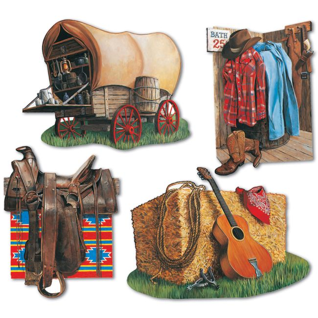 Western Cowboy Cutouts: Party at Lewis Elegant Party Supplies ...