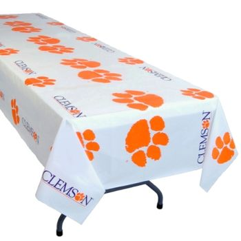 Charming Clemson Tigers Banquet Table Cover