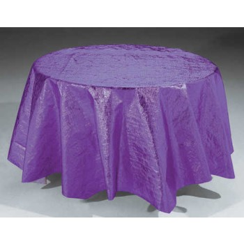 Metallic Purple Round Table Cover Tablecloths Skirts And