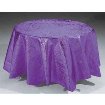 Metallic Purple Round Table Cover Party At Lewis Elegant