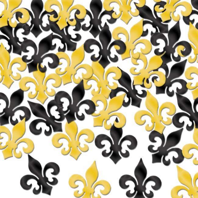 Fleur De Lis Confetti  sc 1 st  Party at Lewis & Fleur De Lis Confetti: Party at Lewis Elegant Party Supplies ...