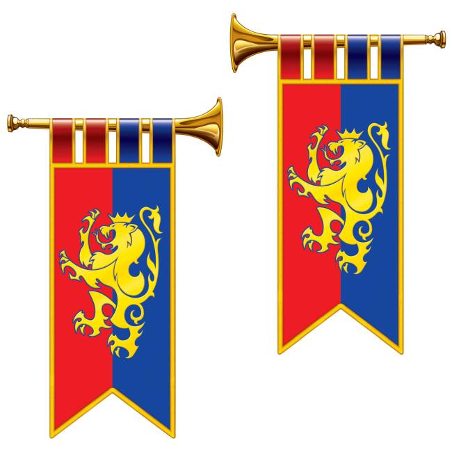 Medieval Banner Herald Trumpet Cutouts Party At Lewis