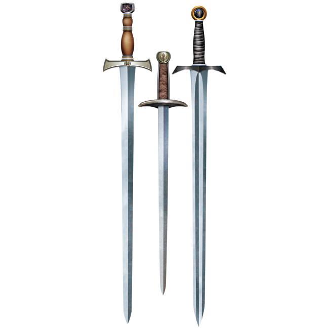 Medieval Knights Sword Cutouts