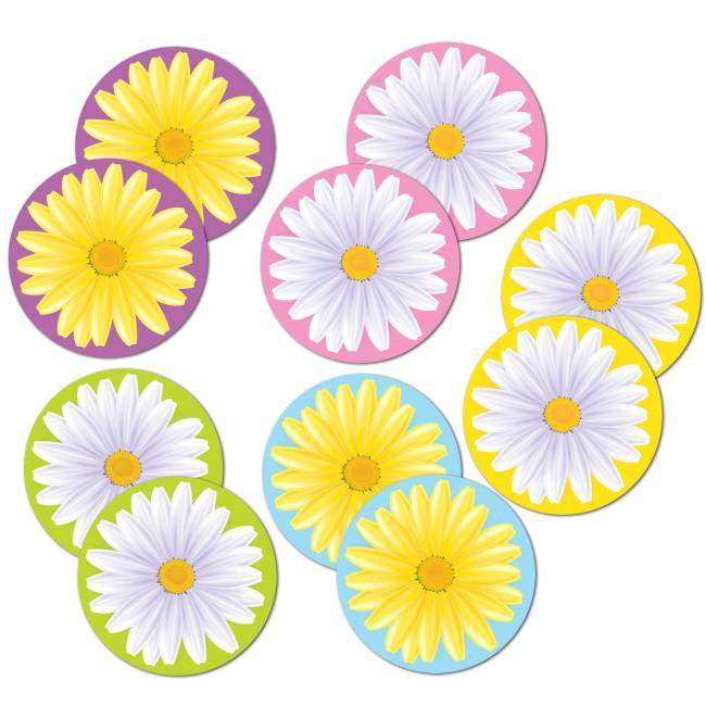 Mini Daisy 4-Inch Cutouts: Party at Lewis Elegant Party Supplies ...